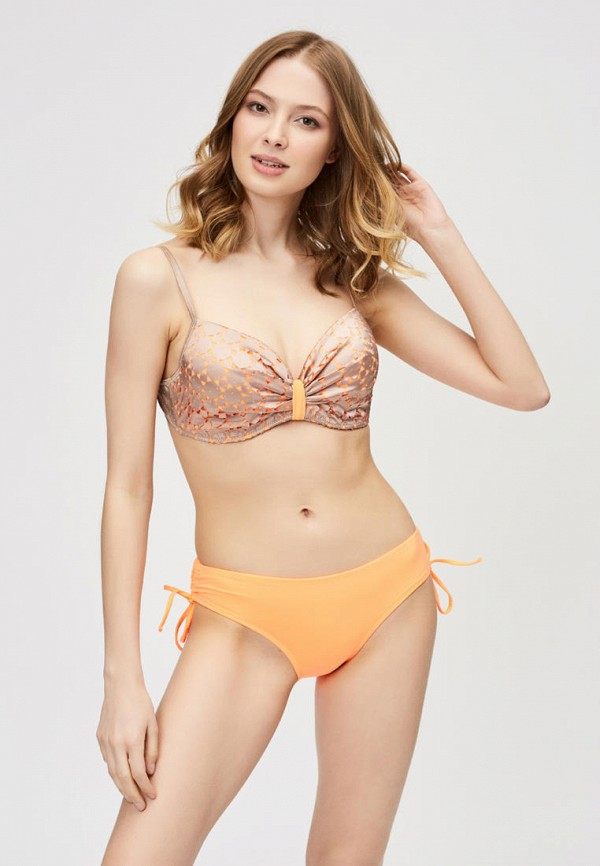 женский купальник argento, оранжевый