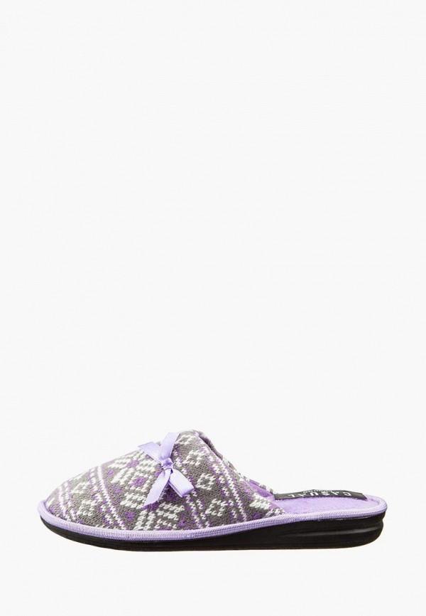 женские тапочки casual, фиолетовые