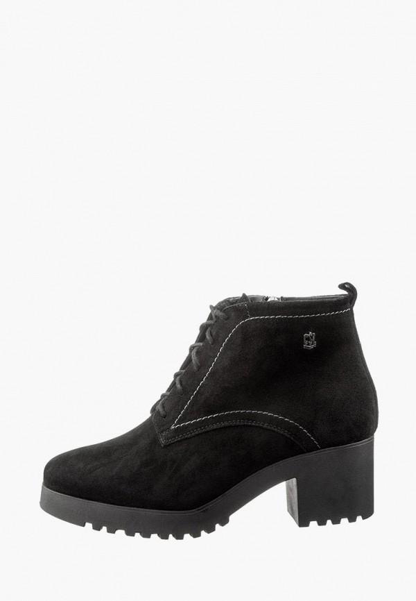 женские ботильоны casual, черные