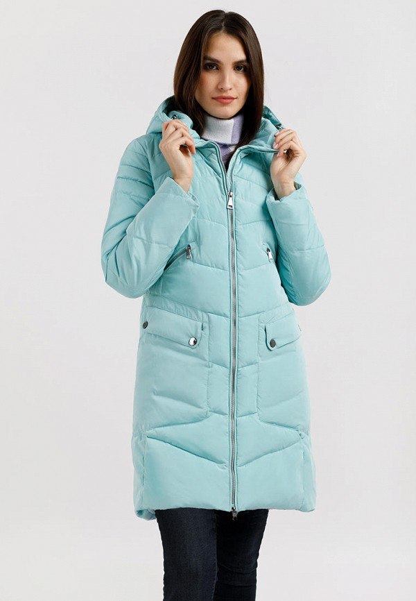 Куртка утепленная Finn Flare бирюзового цвета