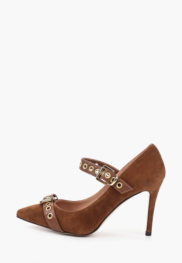 женские туфли с закрытым носом pazolini, коричневые