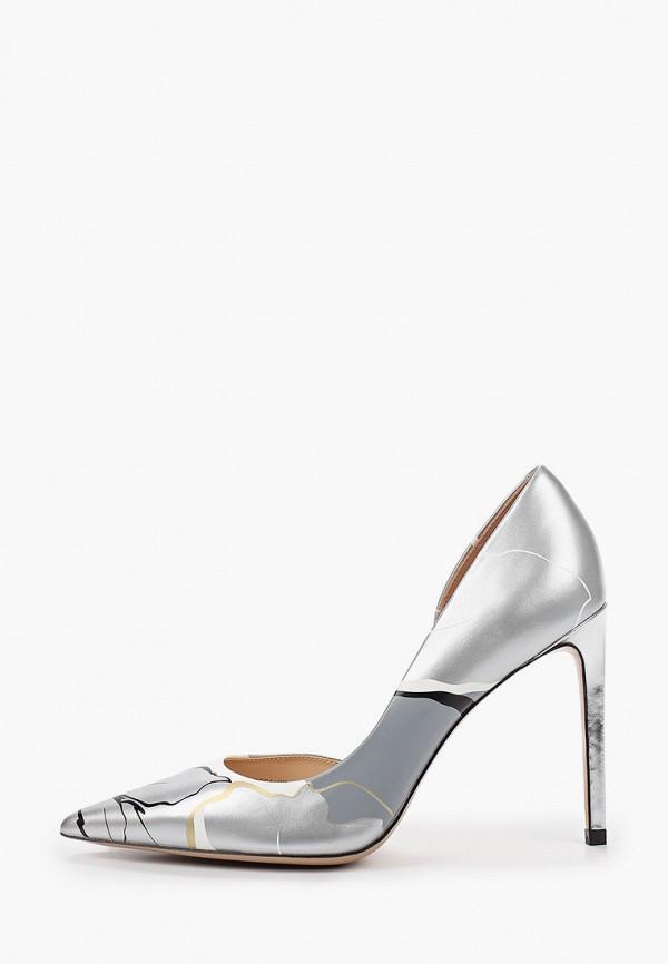 женские туфли с закрытым носом pazolini, серебряные