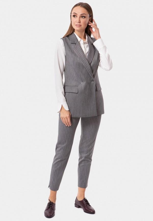 Фото 5 - Женские брюки Vladi Collection серого цвета