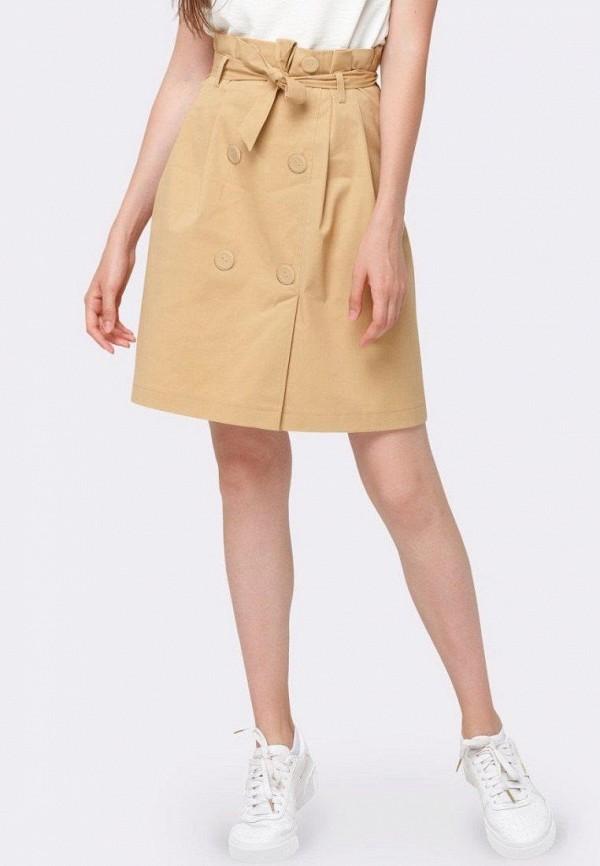 женская юбка cat orange, бежевая