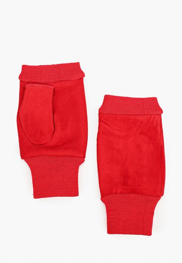женские митенки pur pur, красные