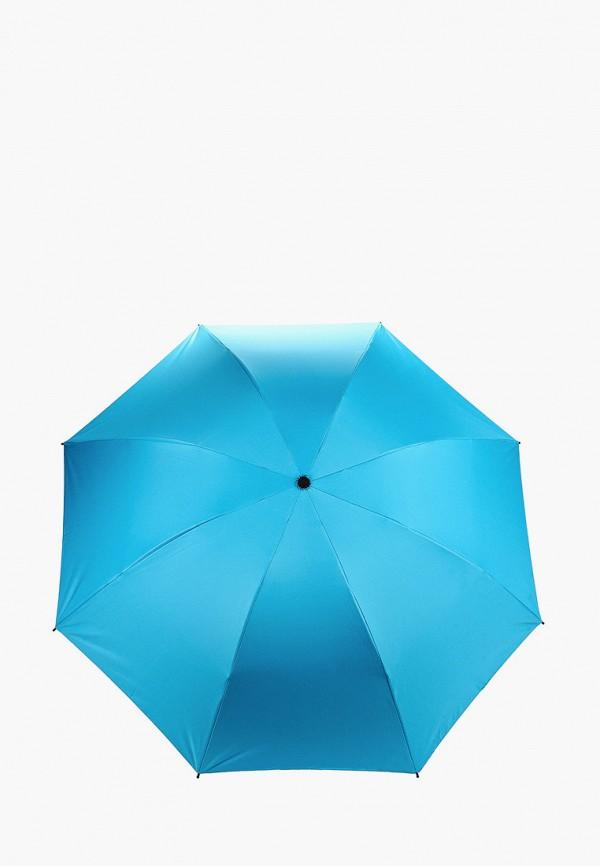 женский складные зонт pur pur, голубой