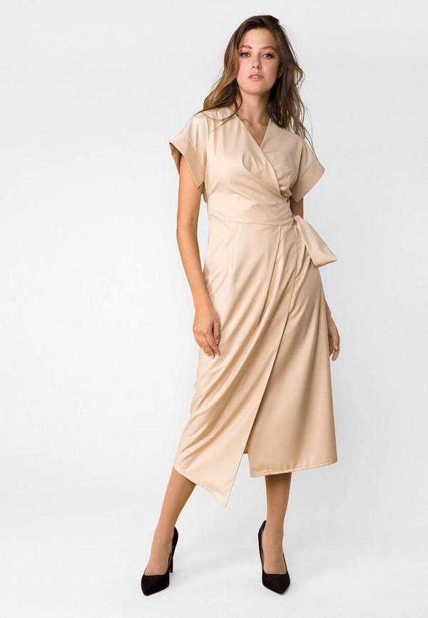 женское платье mr520, бежевое