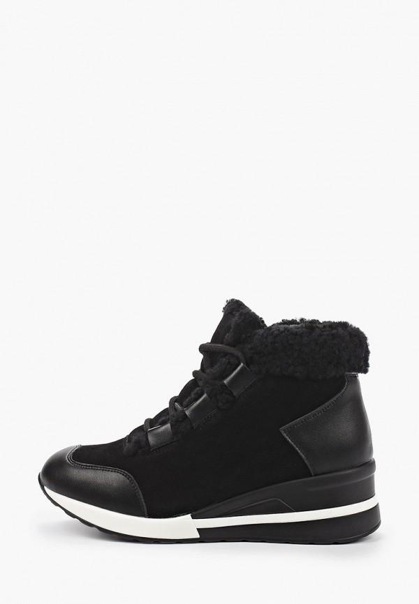 женские высокие кроссовки chezoliny, черные
