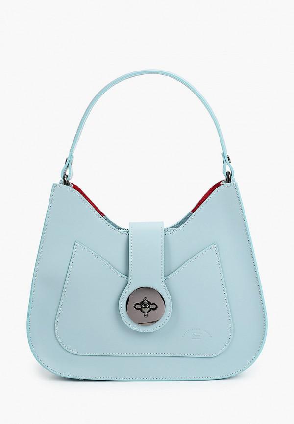 женская сумка через плечо franco frego, бирюзовая