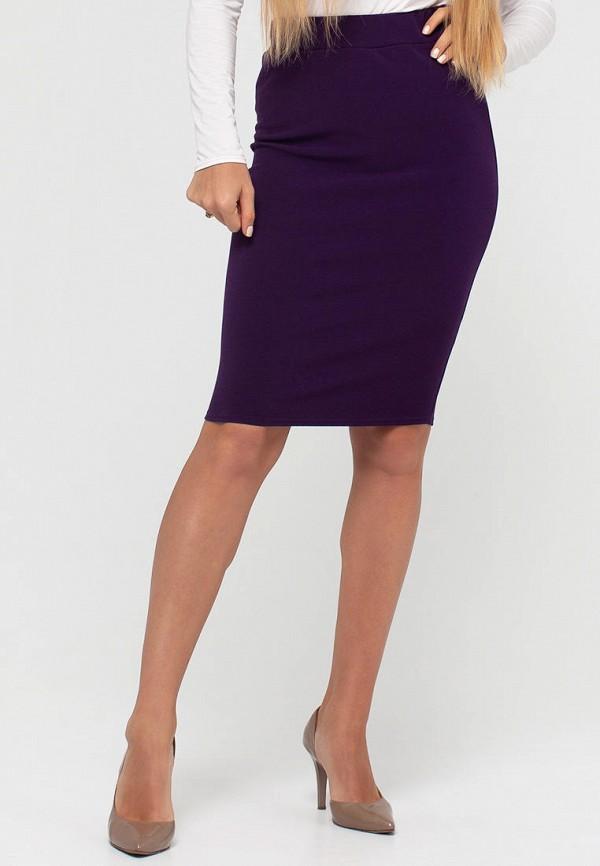женская узкие юбка текстиль хаус, фиолетовая