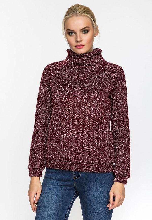 женский свитер gloss, бордовый
