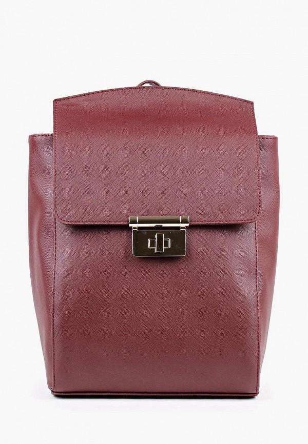 женский рюкзак медведково, бордовый