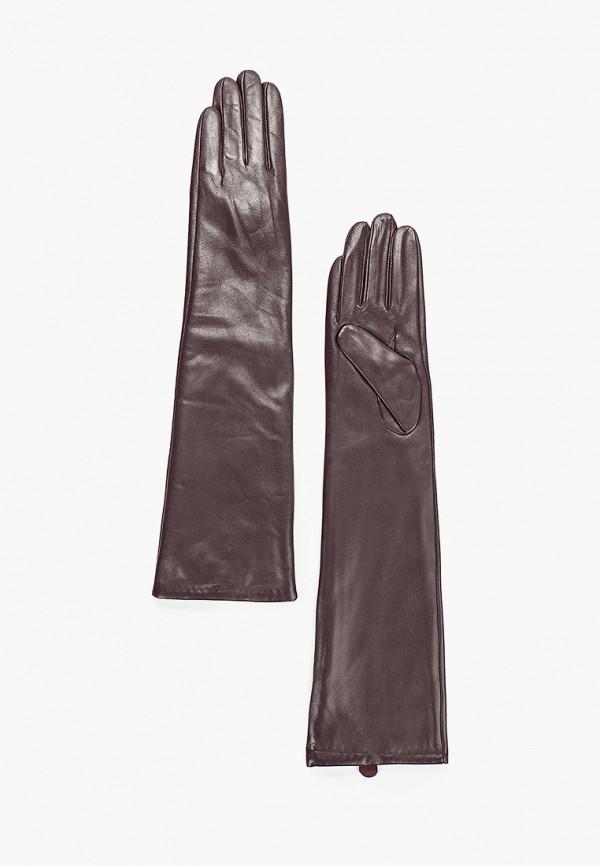 женские кожаные перчатки pur pur, коричневые