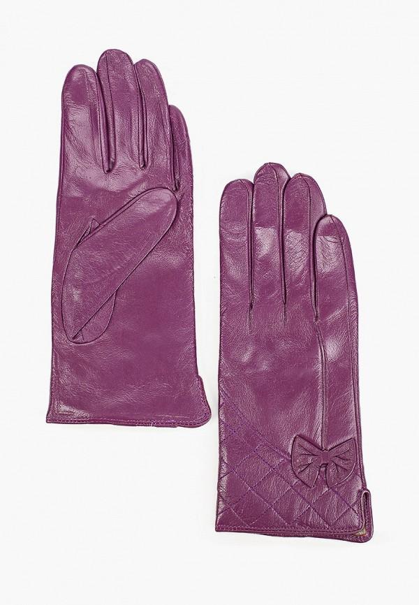 женские кожаные перчатки pur pur, фиолетовые