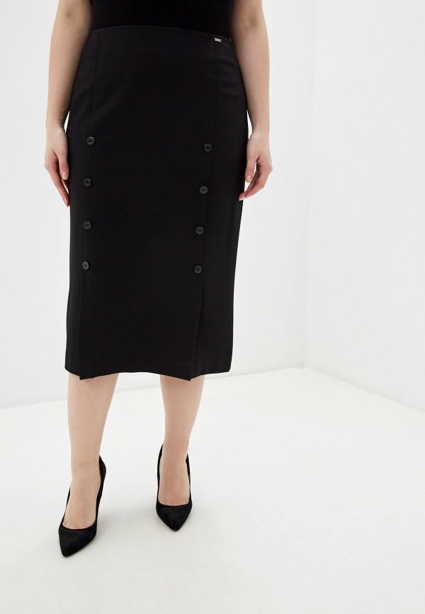 женская юбка миди helmidge, черная