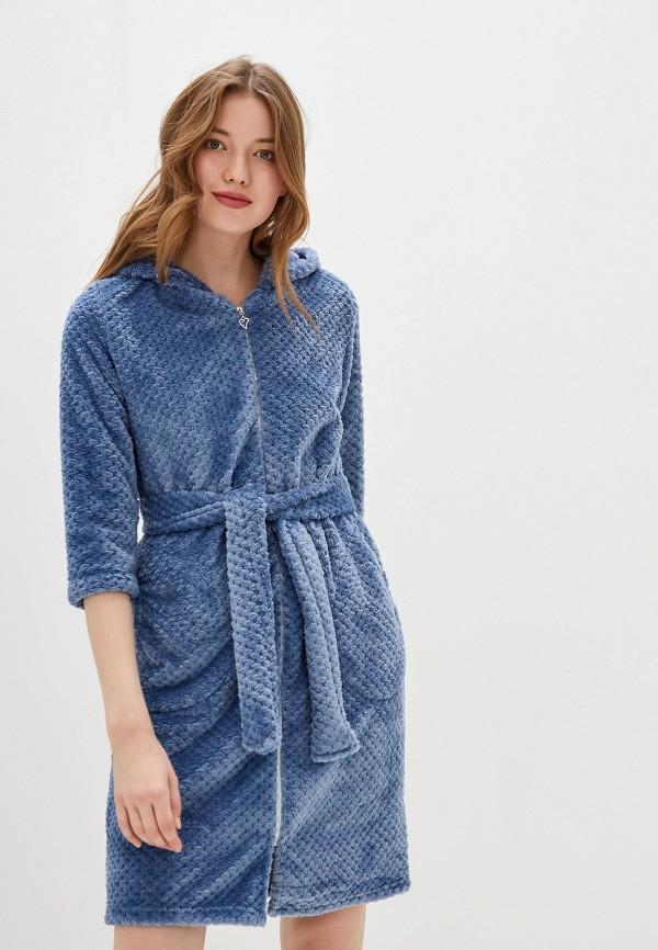 Фото - Халат домашний Lika Dress голубого цвета