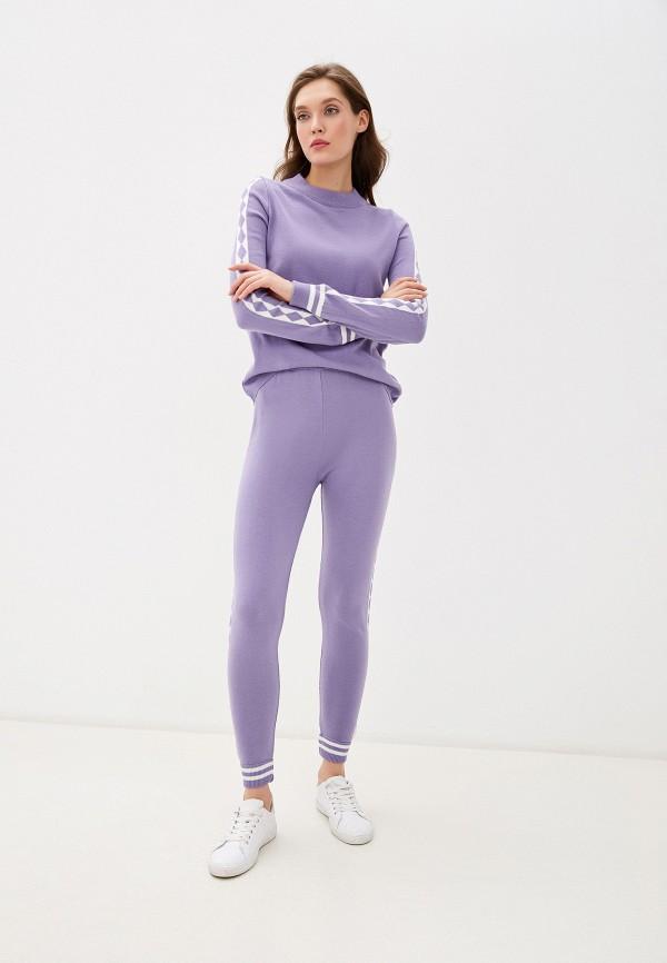 женский костюм bgn, фиолетовый