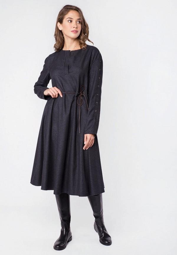 женское повседневные платье mr520, серое