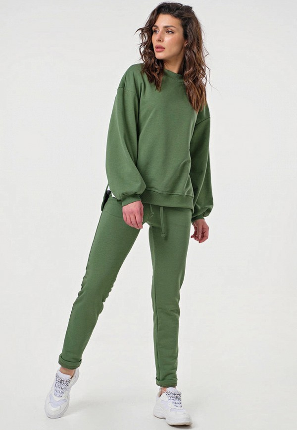 женский спортивный костюм fly, зеленый