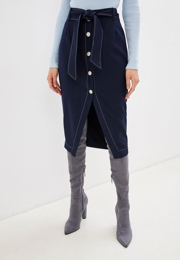 женская юбка миди lezzarine, синяя