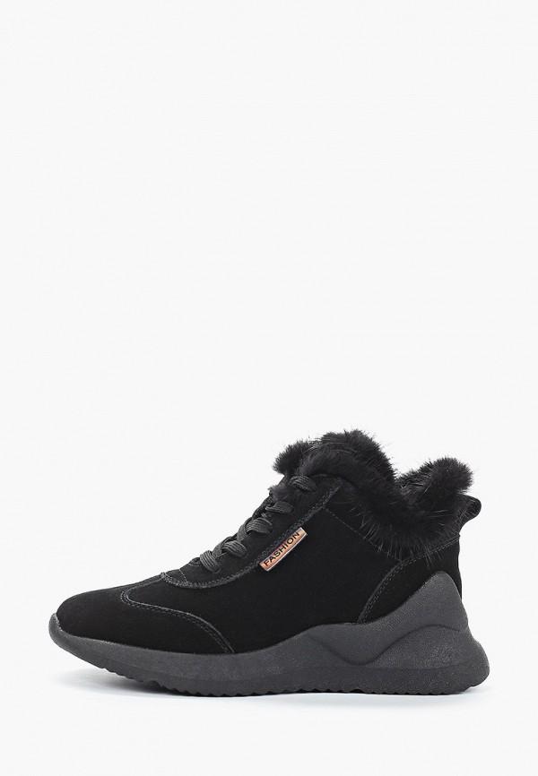 женские высокие кроссовки v.i.konty, черные