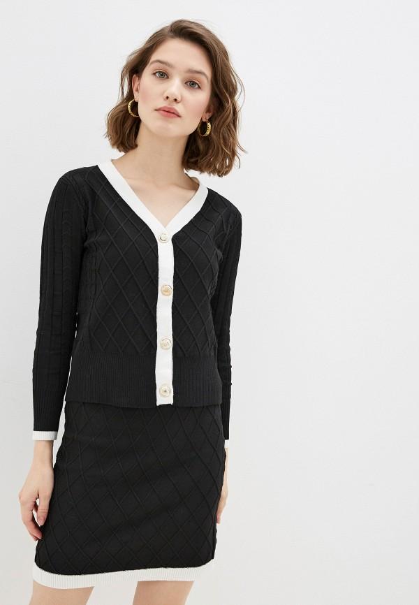 женский костюм moda di lusso, черный