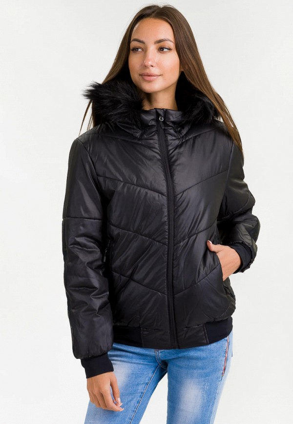 женская куртка hummel, черная