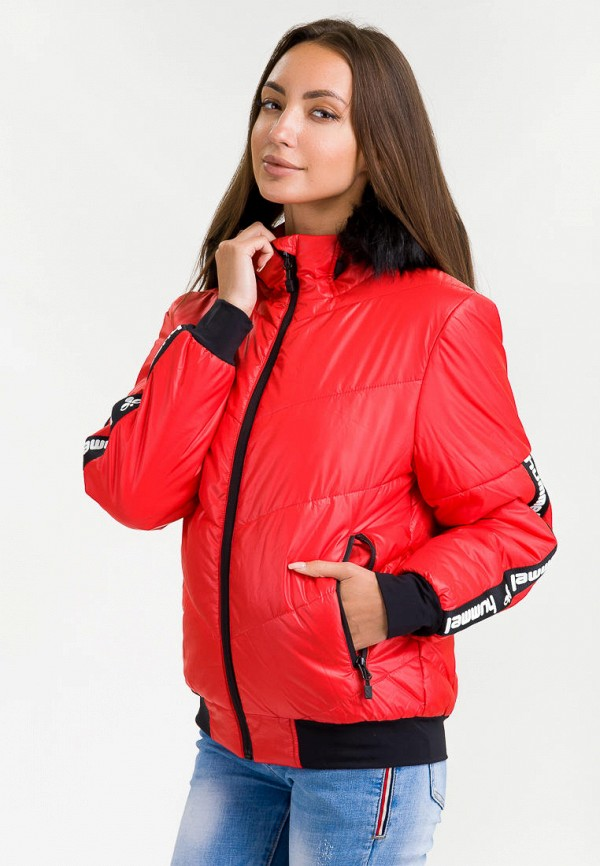 женская куртка hummel, красная