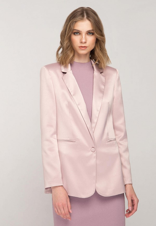 женский пиджак fors, розовый