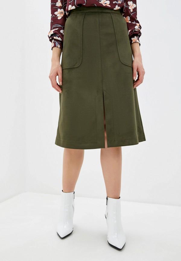 женская юбка-трапеции nemes, хаки