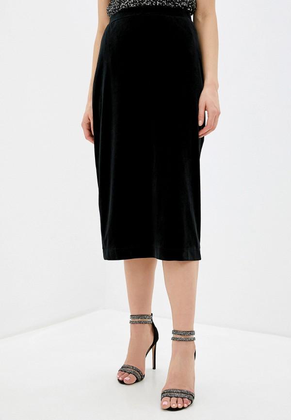 женская юбка миди nemes, черная