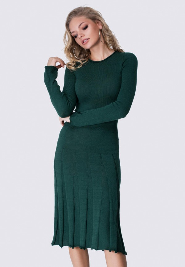 женское платье anushka by anna pavlova, зеленое