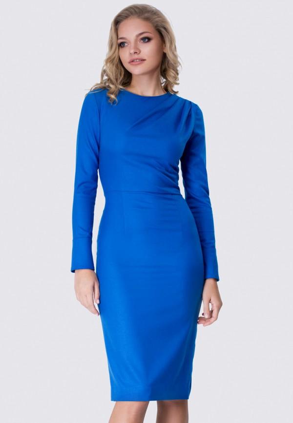 женское платье-футляр anushka by anna pavlova, синее