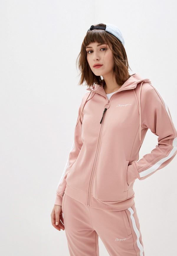 женская толстовка zasport, розовая