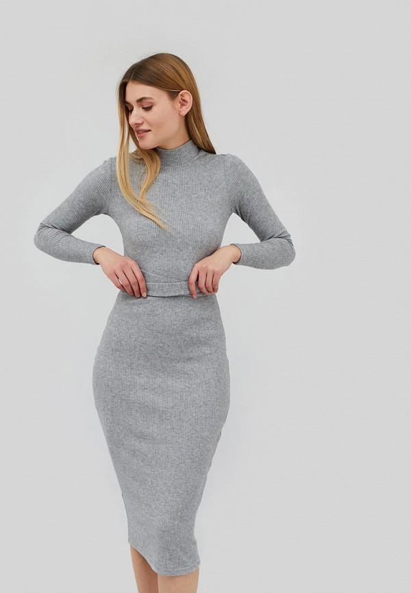женское платье cardo, серое