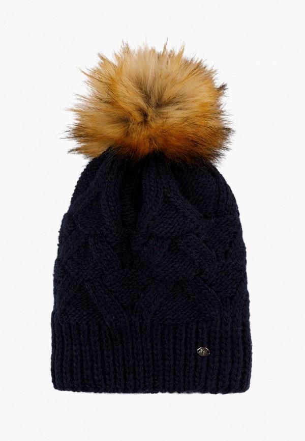 женская шапка finn flare, синяя