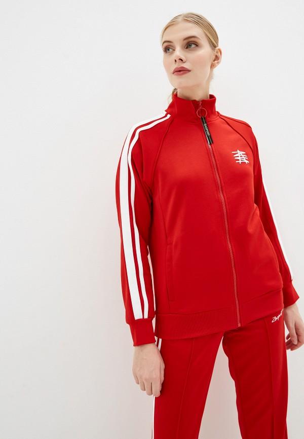 женская олимпийка zasport, красная