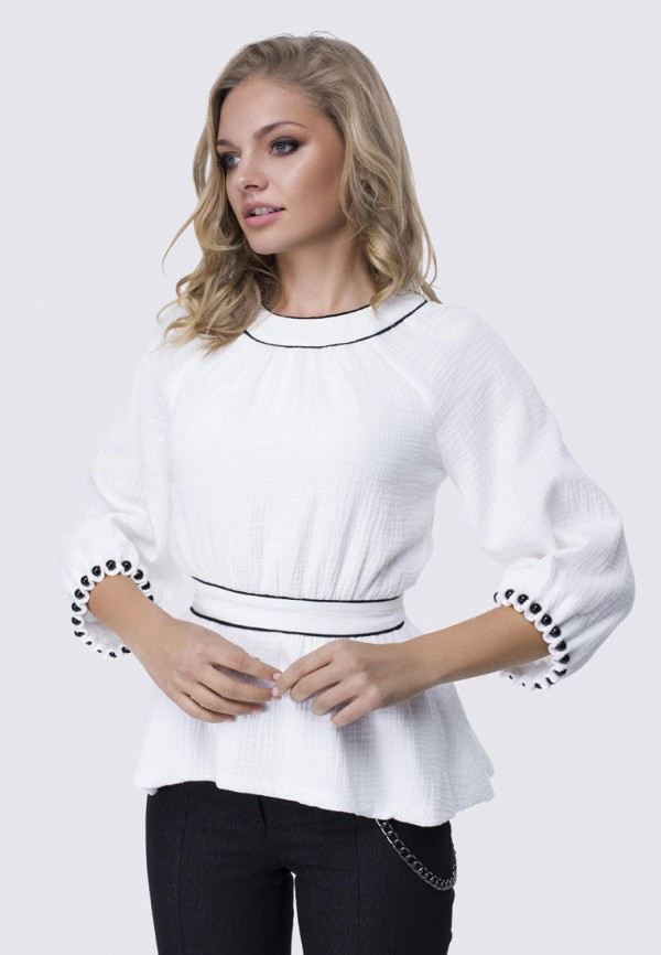 женская блузка anushka by anna pavlova, белая