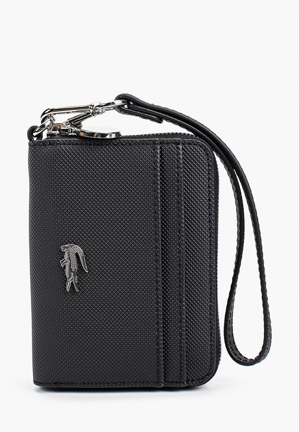 женский кошелёк lacoste, черный