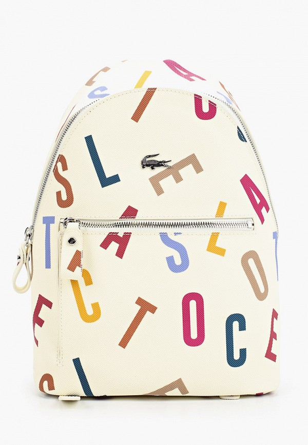 женский рюкзак lacoste, белый