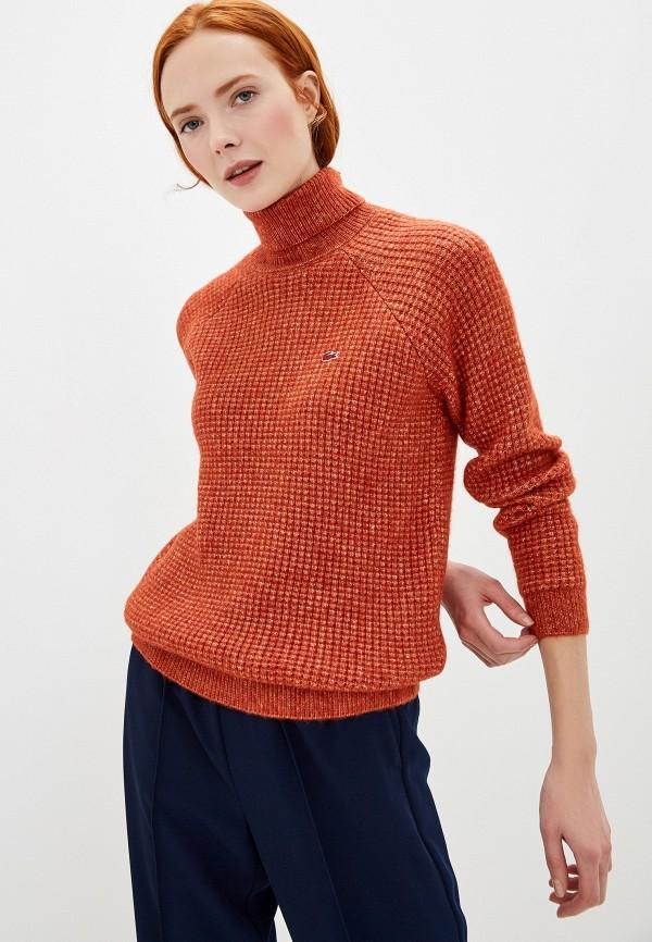 женский свитер lacoste, оранжевый