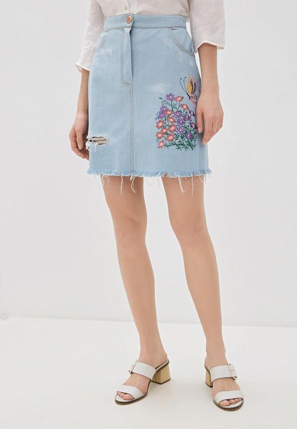 Юбка джинсовая Alasia Fashion House Alasia Fashion House  голубой фото
