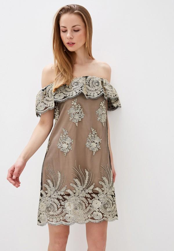 Платье Alasia Fashion House Alasia Fashion House  бежевый фото