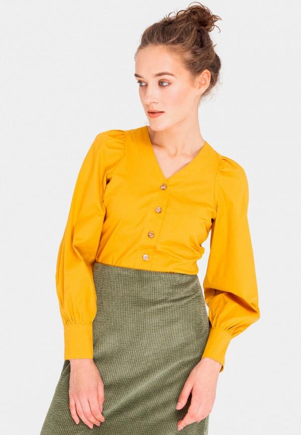 женская блузка shtoyko, желтая
