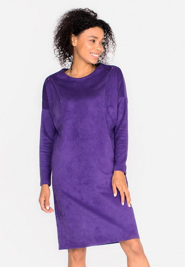 женское повседневные платье bornsoon, фиолетовое