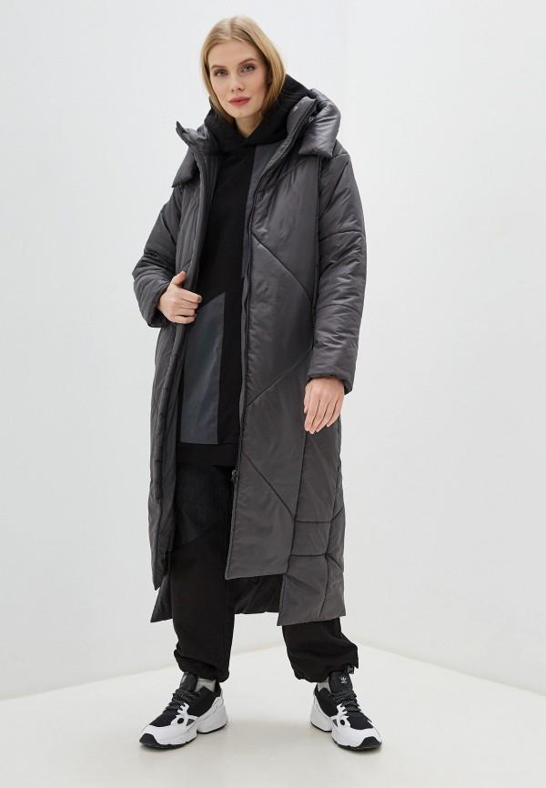 Фото 2 - Куртку утепленная Crocodile Coup серого цвета