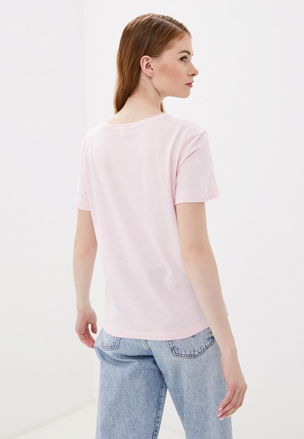 Фото 3 - Женскую футболку Befree розового цвета