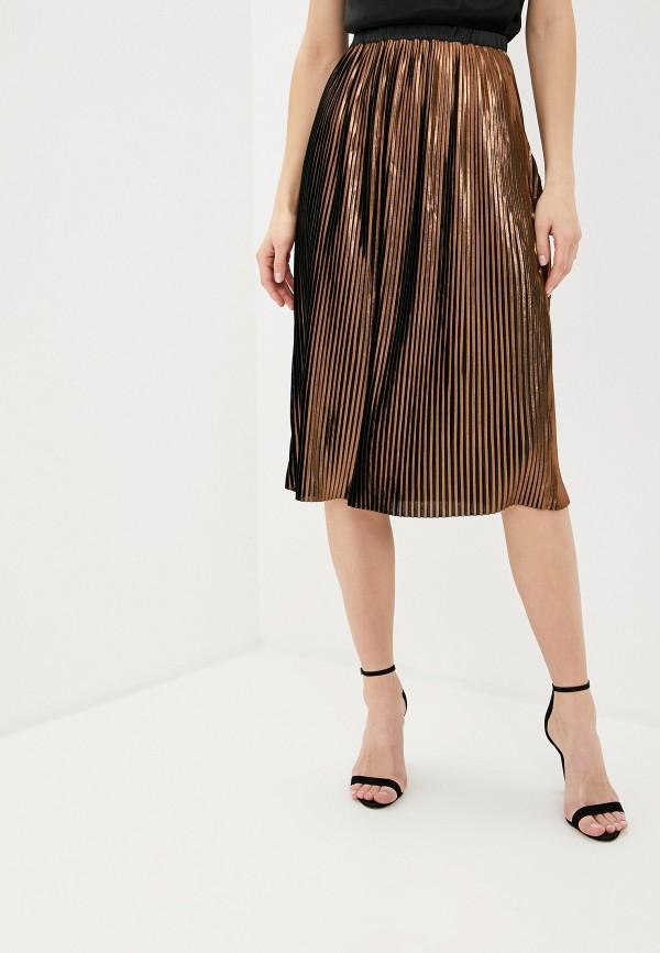 женская юбка миди love republic, коричневая