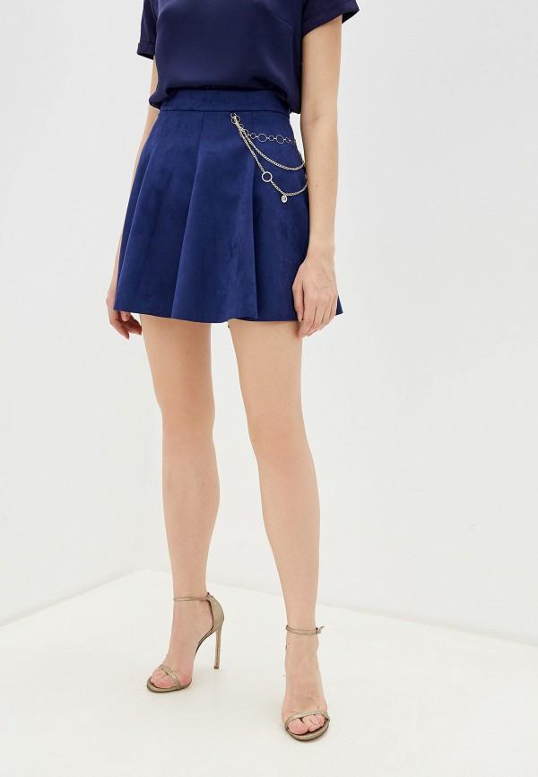 женская юбка-трапеции love republic, синяя
