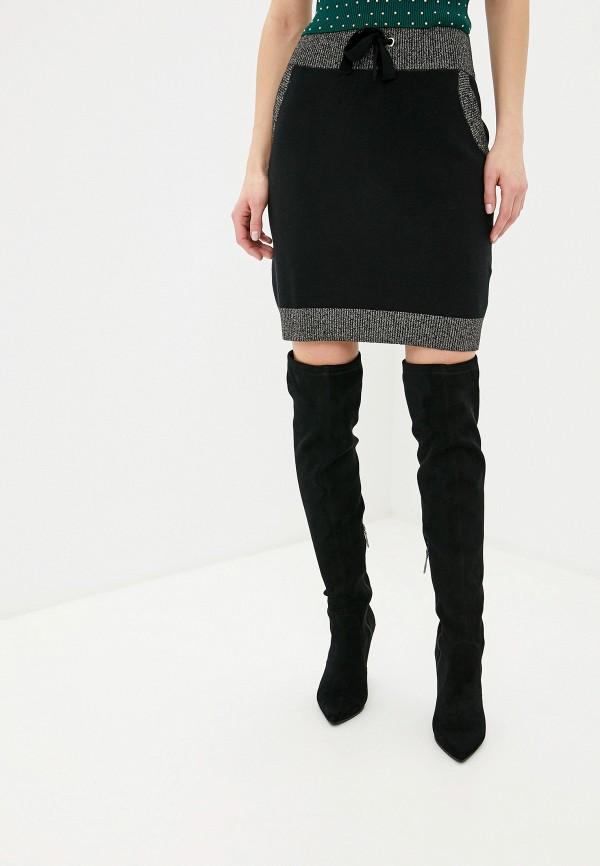 женская юбка миди love republic, черная